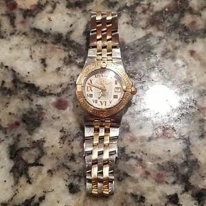 Breitling Galactic two tone rose gold